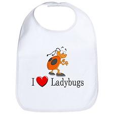 I Love Ladybugs Bib