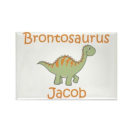 Brontosaurus Jacob Rectangle Magnet (10 pack)