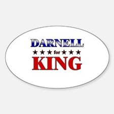 DARNELL for king Oval Decal