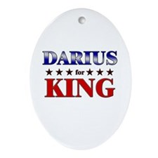 DARIUS for king Oval Ornament