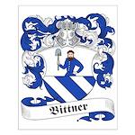 Bittner Family Crest Small Poster