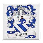 Bittner Family Crest Tile Coaster