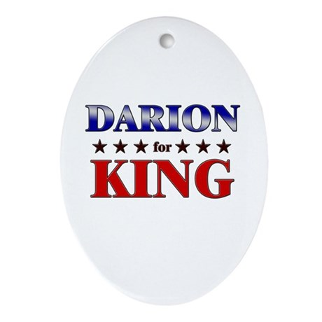 DARION for king Oval Ornament
