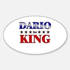 DARIO for king Oval Decal