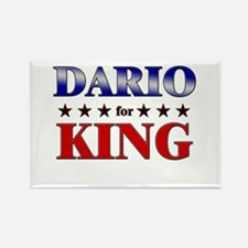DARIO for king Rectangle Magnet