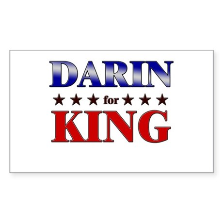 DARIN for king Rectangle Sticker