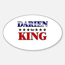 DARIEN for king Oval Decal
