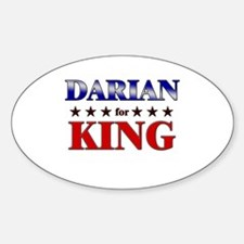 DARIAN for king Oval Decal