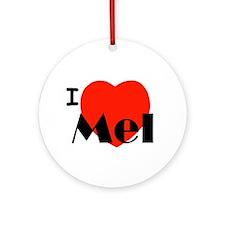 I Love Mel Ornament (Round)