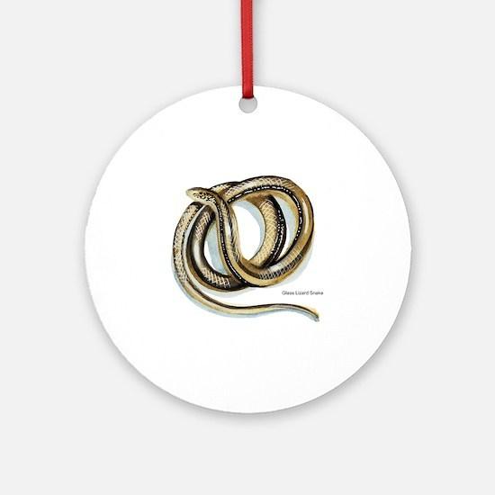 Glass Lizard Snake Keepsake (Round)