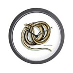Glass Lizard Snake Wall Clock