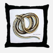 Glass Lizard Snake Throw Pillow