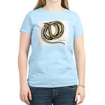 Glass Lizard Snake (Front) Women's Pink T-Shirt