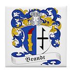 Brandt Family Crest Tile Coaster