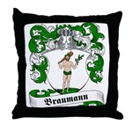 Braumann Family Crest Throw Pillow