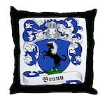 Braun Family Crest Throw Pillow