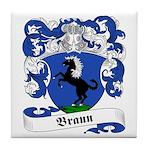 Braun Family Crest Tile Coaster