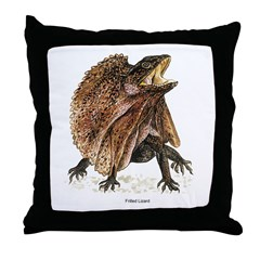 Frilled Lizard Throw Pillow