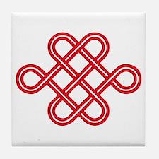 endless love knot Tile Coaster