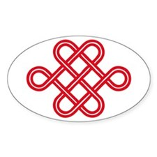 endless love knot Oval Decal