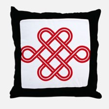 endless love knot Throw Pillow