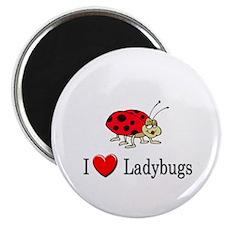"I Love Ladybugs 2.25"" Magnet (10 pack)"