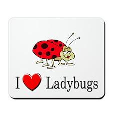 I Love Ladybugs Mousepad