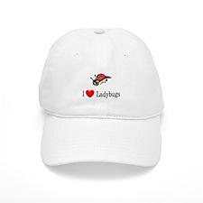 I Love Ladybugs Baseball Cap