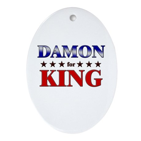 DAMON for king Oval Ornament