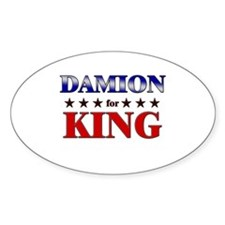 DAMION for king Oval Decal