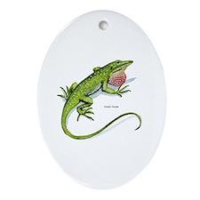 Green Anole Lizard Keepsake (Oval)