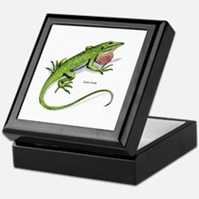 Green Anole Lizard Keepsake Box