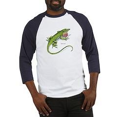 Green Anole Lizard Baseball Jersey