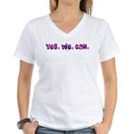 Yes We Can Peace Women's V-Neck T-Shirt