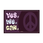 Yes We Can Peace Mini Poster Print