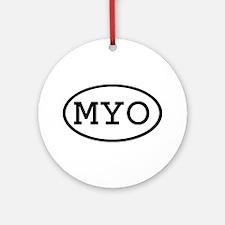 MYO Oval Ornament (Round)