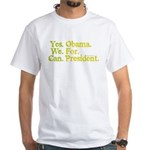 Yes We Can White T-Shirt