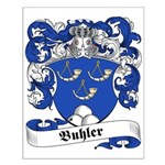 Buhler Family Crest Small Poster