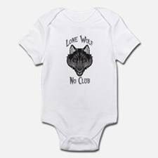 Grey Lone Wolf No Club Infant Bodysuit