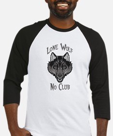 Grey Lone Wolf No Club Baseball Jersey