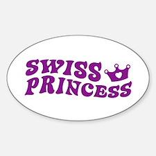 Swiss Princess Oval Decal