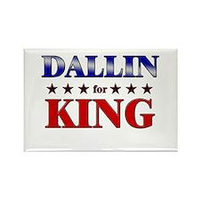 DALLIN for king Rectangle Magnet