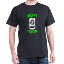 """Lostie Green Beer can """"Happy St Paddy's Day"""" T-Shirt"""