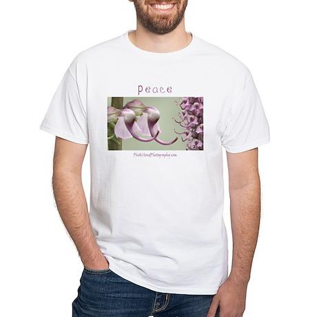 Peace Elephant White T-Shirt