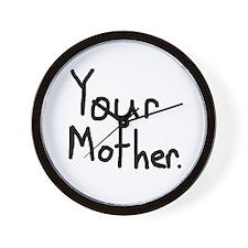 """""""Yo mom"""" Wall Clock"""