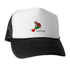 I Love Ladybugs Trucker Hat