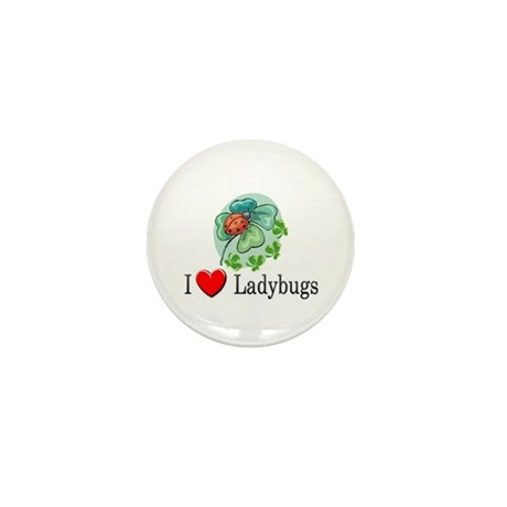 I Love Ladybugs Mini Button (10 pack)