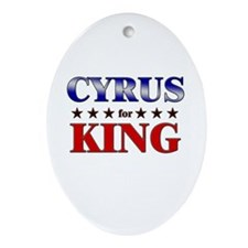 CYRUS for king Oval Ornament