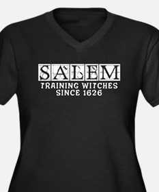 Unique Salem witch Women's Plus Size V-Neck Dark T-Shirt