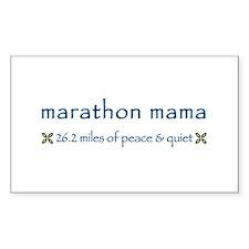 Marathon Mama Rectangle Bumper Stickers